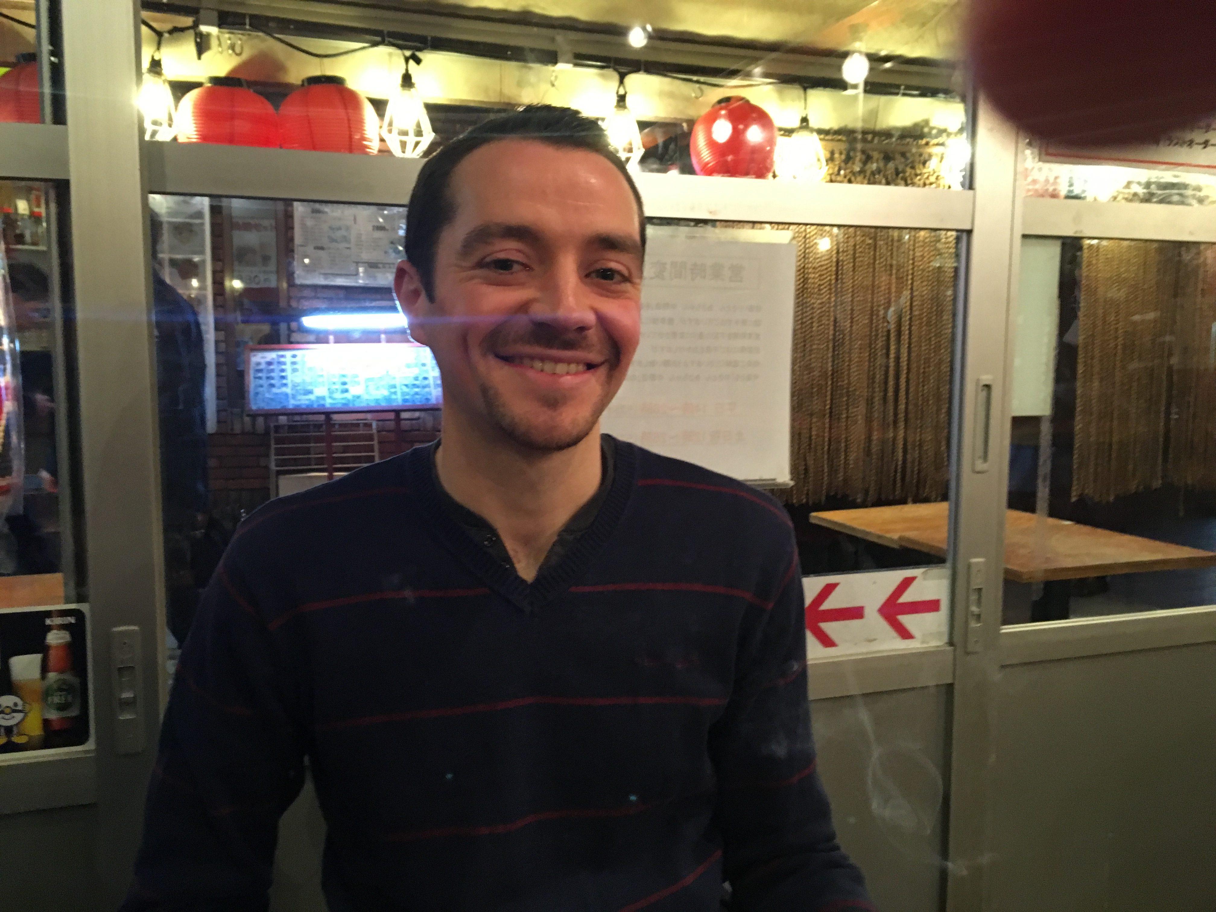 フランスの友人セディが東京に来たんで、中野で夕食
